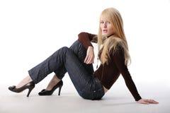 ξανθό μοντέλο Στοκ εικόνες με δικαίωμα ελεύθερης χρήσης