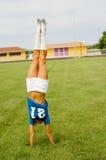 ξανθό μπλε ποδόσφαιρο Τζέρσεϋ στοκ φωτογραφία με δικαίωμα ελεύθερης χρήσης