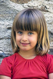 ξανθό πορτρέτο κοριτσιών Στοκ εικόνες με δικαίωμα ελεύθερης χρήσης