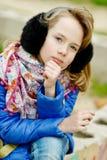 ξανθό πορτρέτο κοριτσιών Στοκ εικόνα με δικαίωμα ελεύθερης χρήσης