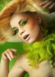 ξανθό πορτρέτο ομορφιάς στοκ φωτογραφία με δικαίωμα ελεύθερης χρήσης