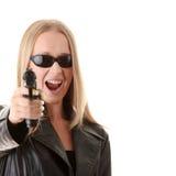 ξανθό πορτρέτο πυροβόλων όπ&la Στοκ φωτογραφία με δικαίωμα ελεύθερης χρήσης