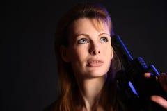 ξανθό πυροβόλο όπλο Στοκ φωτογραφίες με δικαίωμα ελεύθερης χρήσης
