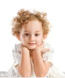ξανθό σγουρό κορίτσι λίγα &a Στοκ εικόνα με δικαίωμα ελεύθερης χρήσης