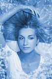 ξανθό τρίχωμα κοριτσιών φυ&sigma Στοκ εικόνες με δικαίωμα ελεύθερης χρήσης