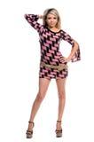 ξανθό φόρεμα μίνι Στοκ φωτογραφίες με δικαίωμα ελεύθερης χρήσης