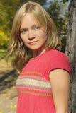 ξανθό χαμόγελο κοριτσιών Στοκ Φωτογραφίες