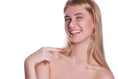 ξανθό χαμόγελο κοριτσιών Στοκ εικόνες με δικαίωμα ελεύθερης χρήσης