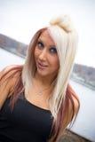 ξανθό χαριτωμένο κορίτσι Στοκ εικόνα με δικαίωμα ελεύθερης χρήσης