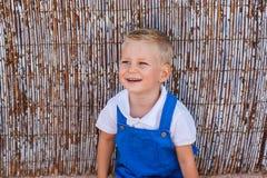 ξανθό χαριτωμένο πορτρέτο αγοριών στοκ φωτογραφίες με δικαίωμα ελεύθερης χρήσης