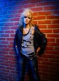ξανθό rocker κοριτσιών glam Στοκ Φωτογραφία