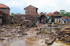 Ξαφνική πλημμύρα καταστροφής της Ινδονησίας - Garut 033 Στοκ Εικόνες