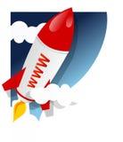 ξεκίνημα πυραύλων www διανυσματική απεικόνιση