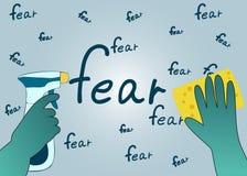 Ξεκαθάρισμα των σκέψεών του από το φόβο Στοκ εικόνα με δικαίωμα ελεύθερης χρήσης