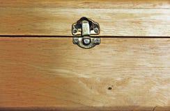 Ξεκλειδώστε το ξύλινο κιβώτιο Στοκ Φωτογραφίες