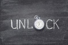 Ξεκλειδώστε το ρολόι λέξης στοκ φωτογραφία με δικαίωμα ελεύθερης χρήσης