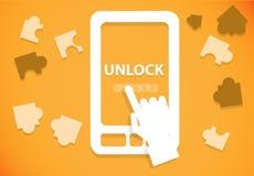 Ξεκλειδώστε το κινητό τηλέφωνο Στοκ φωτογραφία με δικαίωμα ελεύθερης χρήσης