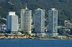 ξενοδοχεία acapulco στοκ φωτογραφία