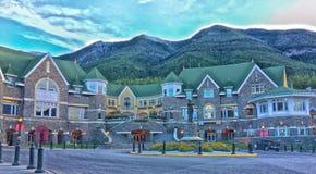 Ξενοδοχείο Αλμπέρτα Καναδάς ανοίξεων Banff Fairmont Στοκ φωτογραφία με δικαίωμα ελεύθερης χρήσης