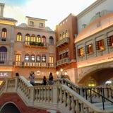 Ξενοδοχείο Βενετία πανοράματος βραδιού Νεβάδα ΗΠΑ Άνοιξη του 2015 στοκ φωτογραφία με δικαίωμα ελεύθερης χρήσης