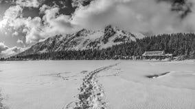Ξενοδοχείο βουνών σε Popradske Pleso Στοκ Εικόνες