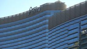 Ξενοδοχείο και χαρτοπαικτική λέσχη της Aria στο Λας Βέγκας - ΗΠΑ 2017 απόθεμα βίντεο