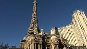 Ξενοδοχείο και χαρτοπαικτική λέσχη του Παρισιού με τον πύργο του Άιφελ στο Λας Βέγκας - ΗΠΑ 2017 απόθεμα βίντεο
