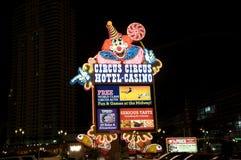 Ξενοδοχείο και χαρτοπαικτική λέσχη τσίρκων τσίρκων στο Λας Βέγκας Στοκ Φωτογραφίες