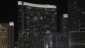 Ξενοδοχείο Λας Βέγκας της Aria τή νύχτα - ΗΠΑ 2017 απόθεμα βίντεο