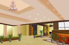 Ξενοδοχείο μέσα στην άποψη όμορφη διανυσματική απεικόνιση