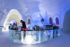 Ξενοδοχείο πάγου στο Lapland κοντά στη Sirkka, Φινλανδία στοκ φωτογραφία