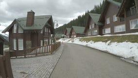 Ξενοδοχείο στο ουκρανικό θέρετρο βουνών Bukovel φιλμ μικρού μήκους