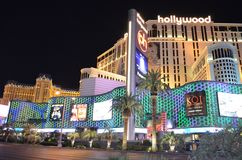 Ξενοδοχείο του Παρισιού και χαρτοπαικτική λέσχη, Λας Βέγκας, Λας Βέγκας, Las Vegas Strip, η λουρίδα, το θέρετρο Hollywood πλανητώ Στοκ φωτογραφία με δικαίωμα ελεύθερης χρήσης