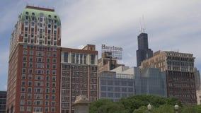 Ξενοδοχείο του Harrison στο Σικάγο απόθεμα βίντεο