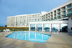 Ξενοδοχείο το πρωί στους βούβαλους Στοκ εικόνα με δικαίωμα ελεύθερης χρήσης