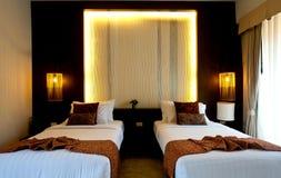 ξενοδοχείο 2 κρεβατοκάμ& Στοκ Εικόνα