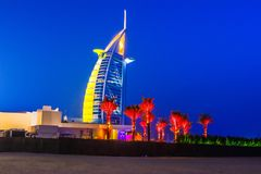 Ξενοδοχείο Al Arabe Burj στο Ντουμπάι Στοκ εικόνα με δικαίωμα ελεύθερης χρήσης