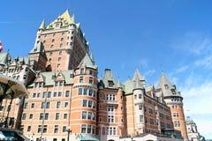 Ξενοδοχείο Frontenac πύργων στην πόλη του Κεμπέκ, Καναδάς Στοκ Φωτογραφία