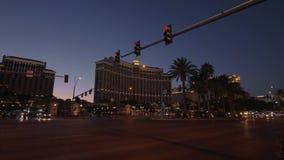 Ξενοδοχείο Las Vegas Strip και του Μπελάτζιο τη νύχτα - ΗΠΑ 2017 φιλμ μικρού μήκους