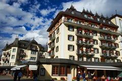 Ξενοδοχεία Ελβετία Zermatt Στοκ φωτογραφίες με δικαίωμα ελεύθερης χρήσης
