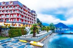 Ξενοδοχείο θαυμάσιο Baveno στη λίμνη Maggiore Ιταλία Στοκ Εικόνα