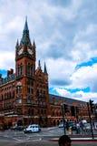 Ξενοδοχείο και σταθμός του ST Pancras Στοκ Εικόνα