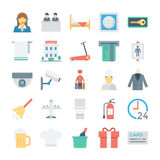 Ξενοδοχείο και χρωματισμένα υπηρεσίες διανυσματικά εικονίδια 4 ελεύθερη απεικόνιση δικαιώματος