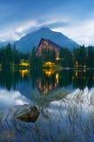 Ξενοδοχείο κοντά στη λίμνη Στοκ εικόνα με δικαίωμα ελεύθερης χρήσης