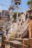 Ξενοδοχείο Νησιών των Θησαυρών και σκάφος πειρατών χαρτοπαικτικών λεσχών Στοκ Εικόνες