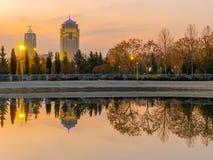 Ξενοδοχείο ντιβανιών - χρόνος ηλιοβασιλέματος Erbil - του Ιράκ Στοκ φωτογραφίες με δικαίωμα ελεύθερης χρήσης