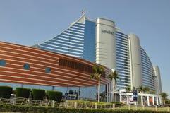 Ξενοδοχείο παραλιών Jumeirah στο Ντουμπάι, Ε.Α.Ε. Στοκ εικόνα με δικαίωμα ελεύθερης χρήσης