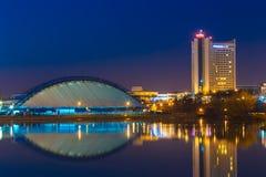 Ξενοδοχείο που χτίζει τη Λευκορωσία στο παλαιό μέρος Μινσκ, Λευκορωσία Στοκ εικόνα με δικαίωμα ελεύθερης χρήσης