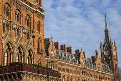 Ξενοδοχείο του Λονδίνου αναγέννησης του ST Pancras Στοκ Εικόνες