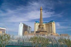 Ξενοδοχείο του Παρισιού και χαρτοπαικτική λέσχη στο Λας Βέγκας, Νεβάδα Στοκ φωτογραφία με δικαίωμα ελεύθερης χρήσης